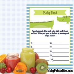 printable baby food guessing game
