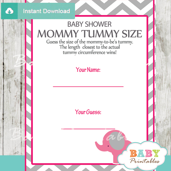 Hot Pink Elephant Baby Shower Games D103 Baby Printables