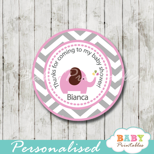 photo about Printable Elephant Baby Shower known as Crimson Elephant Child Shower Prefer Tags - D106