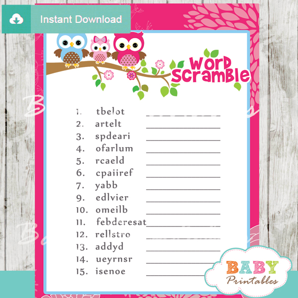 owl baby shower theme printables | just b.CAUSE