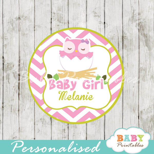 picture regarding Baby Shower Gift Tags Printable identify Red Owl Kid Shower Want Tags - D123