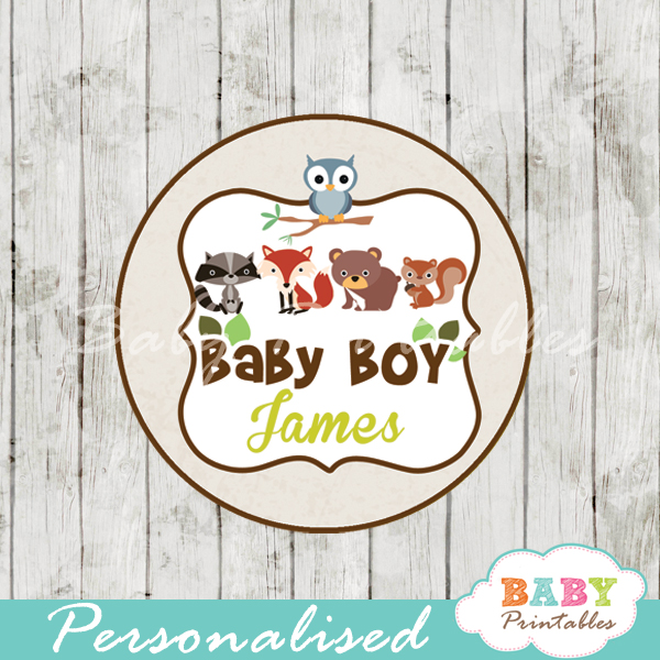 Woodland Baby Shower Favor Tags - D137 - Baby Printables