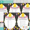 baby girl printable yellow rubber duck baby shower fun games ideas