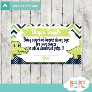 printable preppy crocodile diaper raffle tickets baby shower