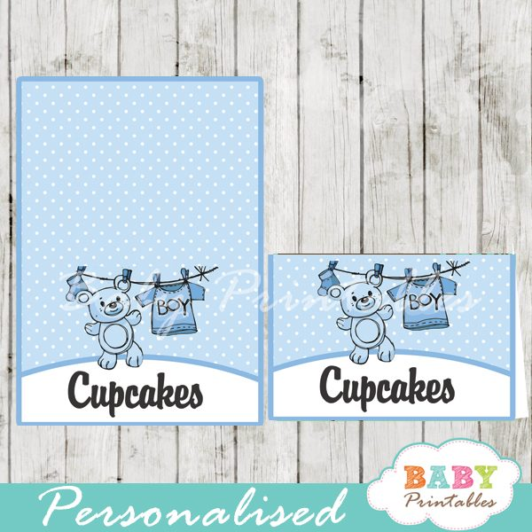 printable food labels blue baby boy clothes