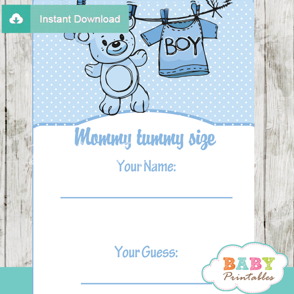 baby boy blue clothes printable baby shower game guess the mommy 39 s