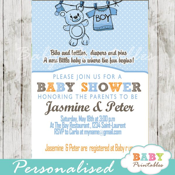 Baby Shower Invitation D151
