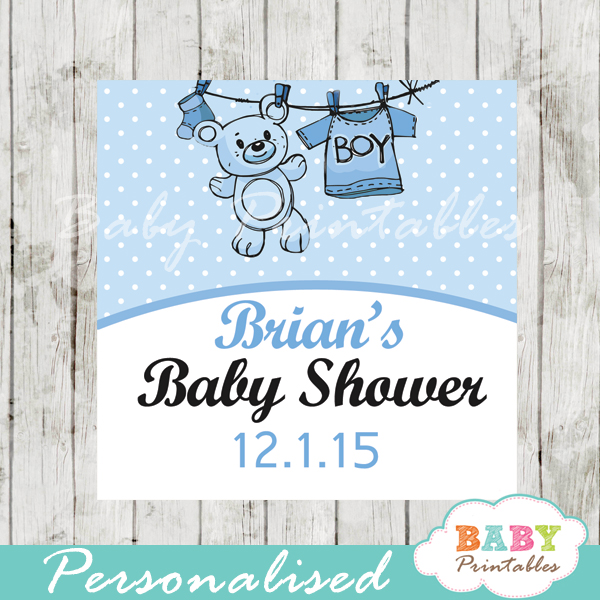 printable baby boy blue clothes baby shower gift labels