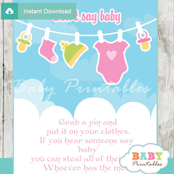 Pink & Green Baby Girl Clothes Baby Shower Games Bundle – D152