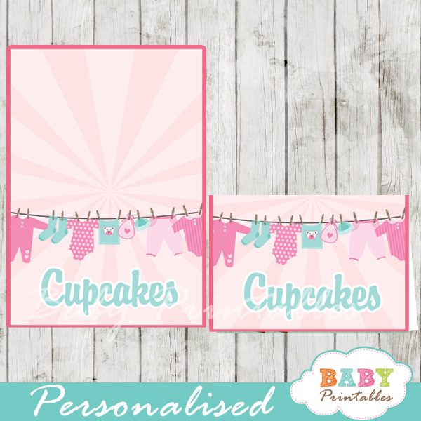 printable food labels pink tiffany baby girl clothes