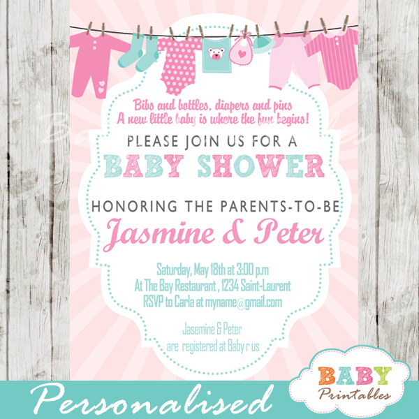 Jungle Animals Baby Shower Invitations D445 Baby Printables