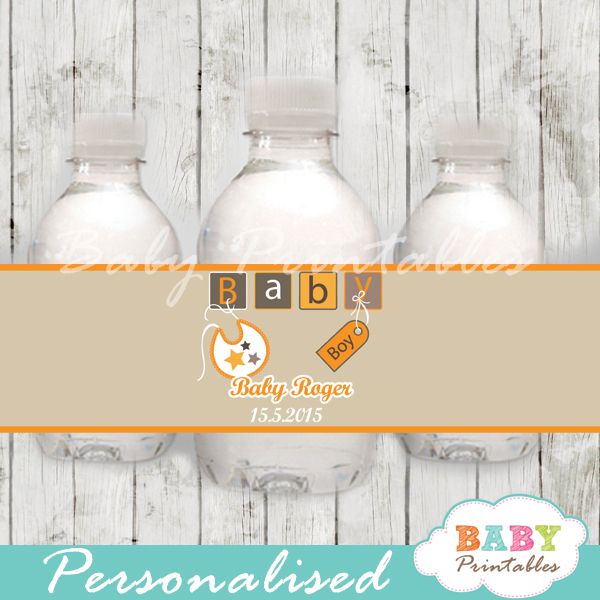 personalized baby letter blocks baby shower bottle wrappers diy online