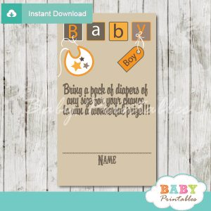 printable baby letter blocks diaper raffle game cards baby shower