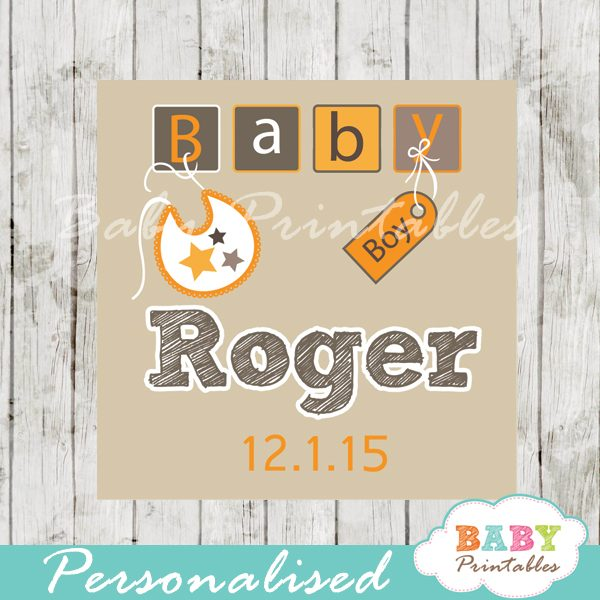 printable baby boy letter blocks baby shower gift labels