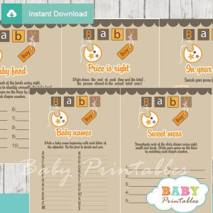 printable letter blocks baby shower fun games ideas