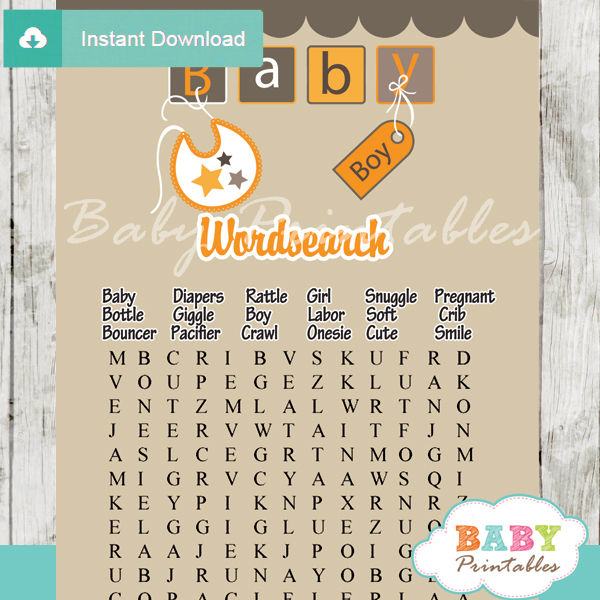 baby alphabet letter blocks themed printable baby shower word search puzzles