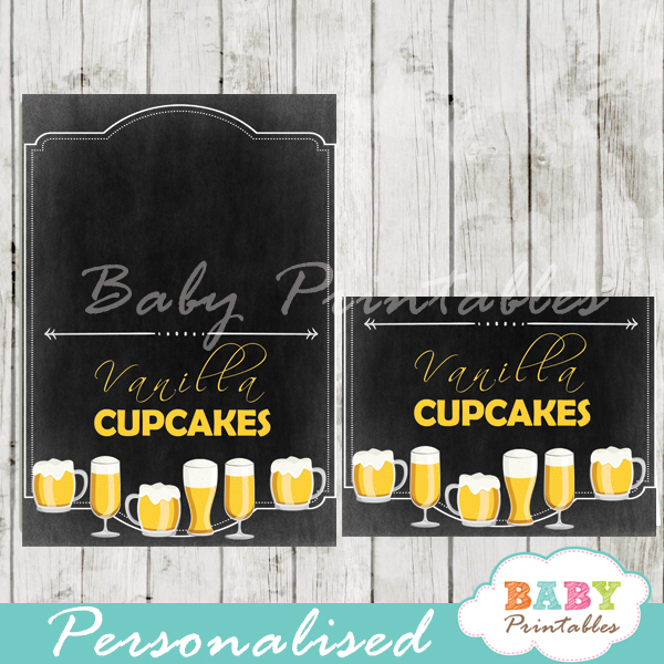 printable baby boy brewing beer food labels