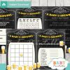 printable baby is brewing themed baby shower games package
