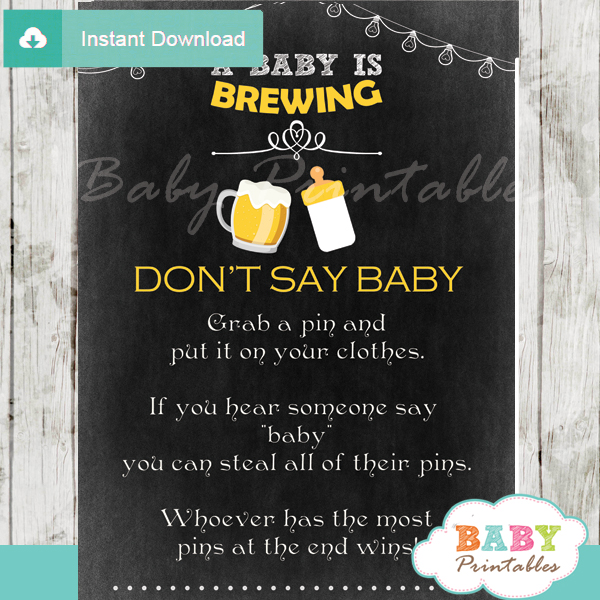 a baby is brewing beer  u0026 babyq baby shower games - d156
