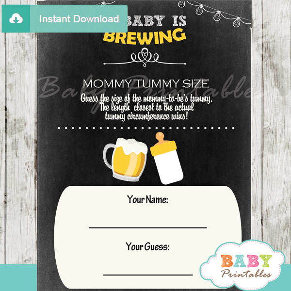 A Baby is Brewing Beer & BaByQ Baby Shower Games - D156 ...