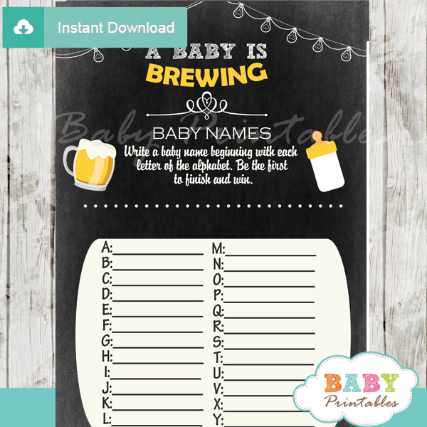 A Baby Is Brewing Beer Amp Babyq Baby Shower Games D156