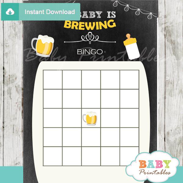 Baby is Brewing Beer & BaByQ Baby Shower Games Bundle – D156