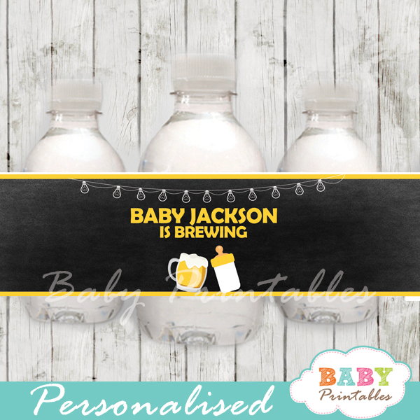 custom beer barbecue baby shower bottle wrappers diy online