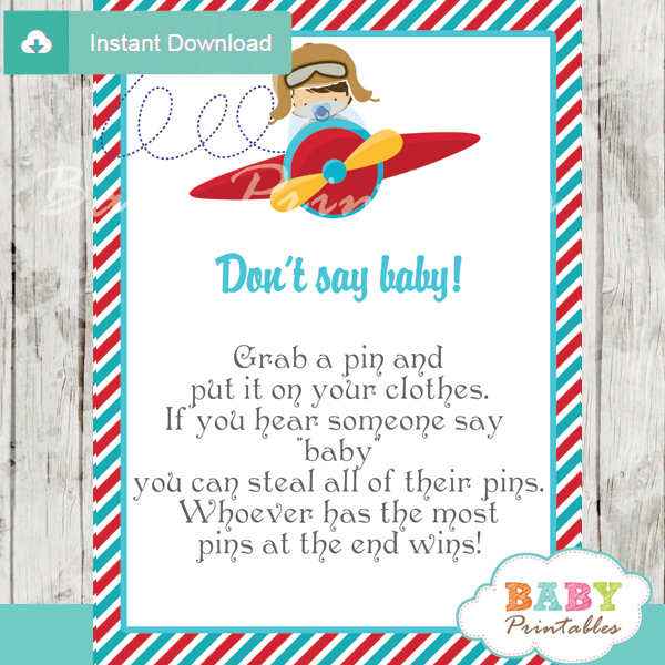 little aviator boy Dont Say Baby Game pdf