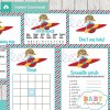 printable little aviator themed baby shower games package