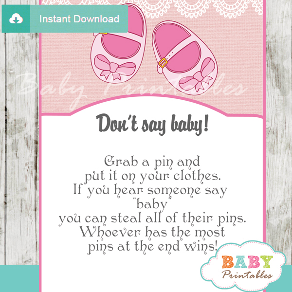 170 pink baby girl shoes baby shower games don 39 t say baby