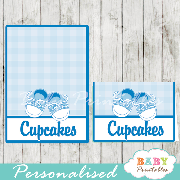printable baby shoes custom food label cards