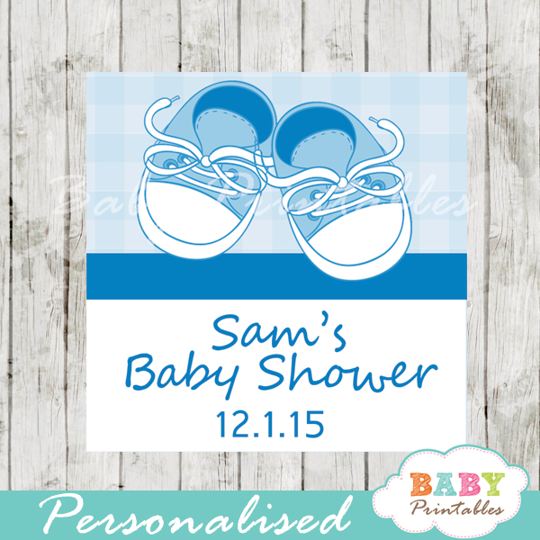 printable custom baby shoes baby shower favor tags
