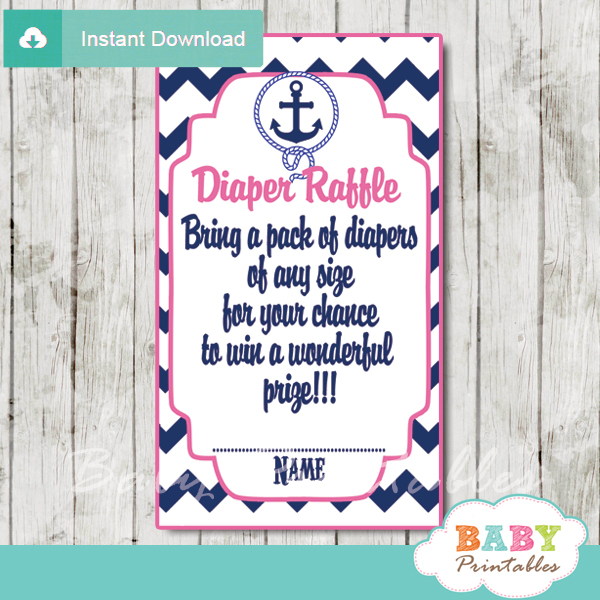 picture relating to Printable Diaper identified as Army Crimson Nautical Anchor Diaper Raffle Tickets - D196