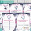 printable nautical anchor baby shower fun games ideas