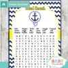 nautical anchor baby shower word search game printable puzzles