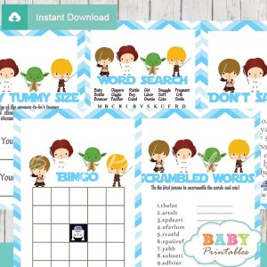 printable star wars baby shower fun games ideas