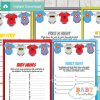 printable superhero baby shower games package
