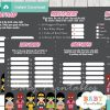 printable superhero girls baby shower games package