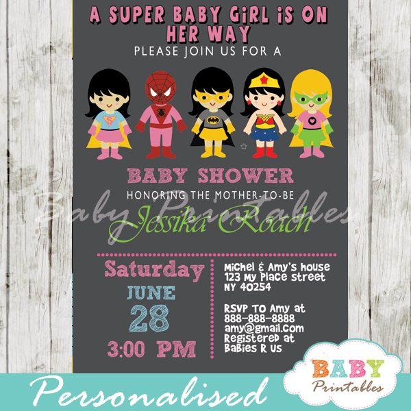 Superhero S Baby Shower Invitation