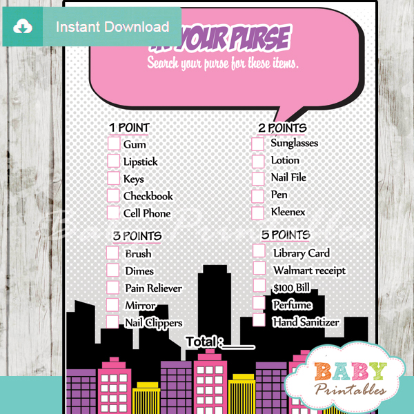baby girl comic book baby shower games d214 baby printables