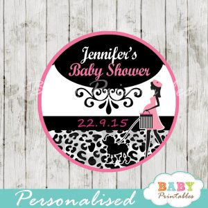 animal print printable french paris poodle personalized favor tags toppers