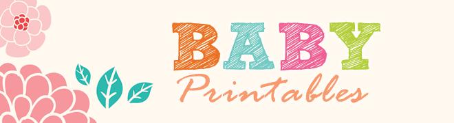 baby shower printables header