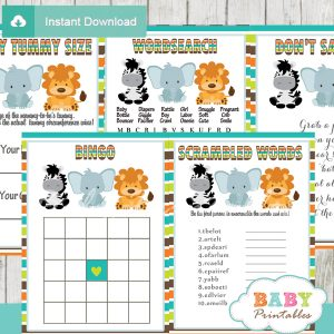 safari baby shower games