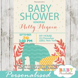 printable safari baby shower invitations