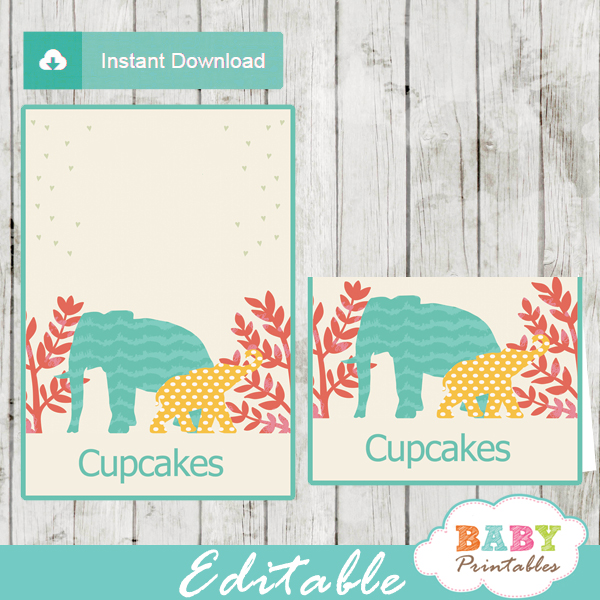 jungle theme baby shower food labels