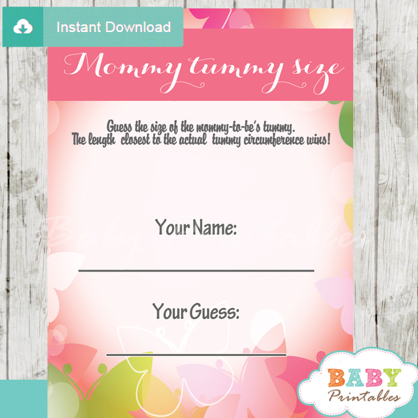 Spring Bokeh Butterfly Baby Shower Games - D236 - Baby ...