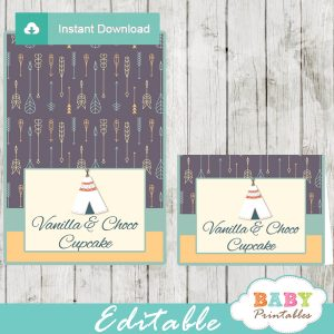 tribal native american party food ideas labels