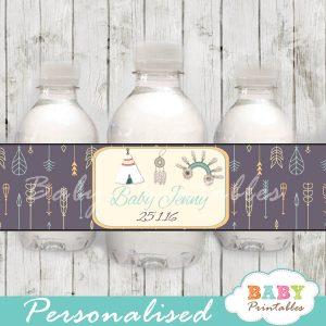 printable native american water bottle labels