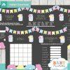 bunting floral mason jar games to play at a baby shower