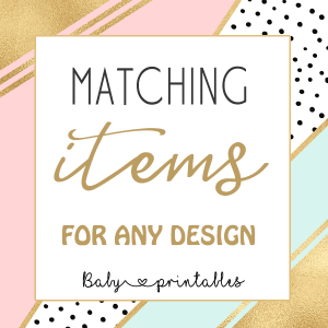 custom baby shower matching items any design printable ideas